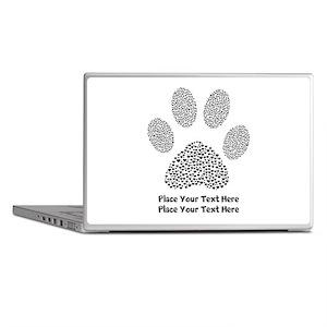 Dog Paw Print Personalized Laptop Skins