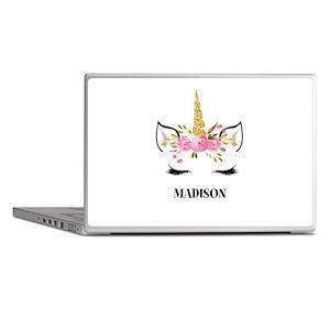 Unicorn Face Eyelashes Personalized Gift Laptop Sk