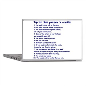 Clues You May Be a Writer Laptop Skins