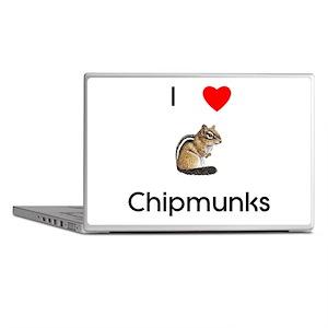 I love chipmunks Laptop Skins