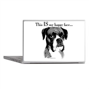 Boxer Happy Face Laptop Skins