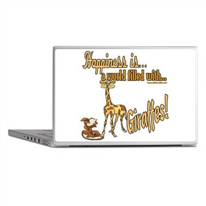 Happiness is a giraffe Laptop Skins