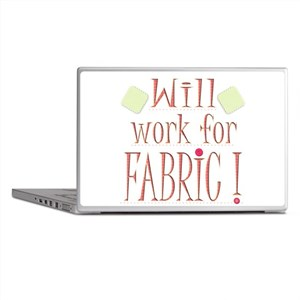 Will Work For Fabric Laptop Skins