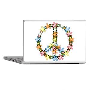 Peace Flowers Laptop Skins