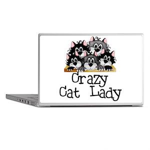 Crazy Cat Lady Laptop Skins