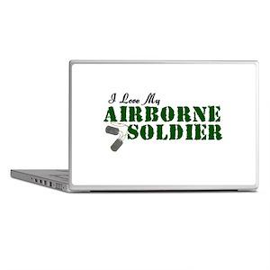 I Love My Airborne Soldier Laptop Skins