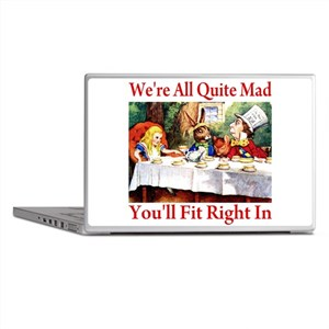 WE'RE ALL QUITE MAD Laptop Skins