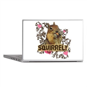Squirrely Squirrel Lover Laptop Skins