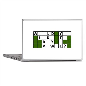 buy_a_vowel_dark Laptop Skins