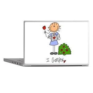 I Garden Stick Figure Laptop Skins