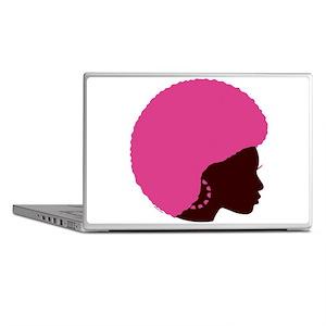 Pink Afro Laptop Skins