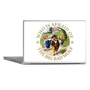 Who Is Afraid Of The Big Bad Wolf Laptop Skins