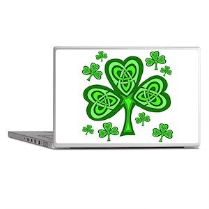 Celtic Shamrocks Laptop Skins