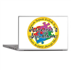 Asperger's Syndrome Puzzle Pi Laptop Skins
