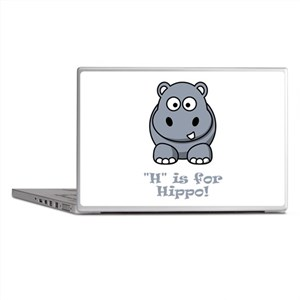 H is for Hippo! Laptop Skins