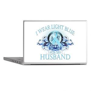 I Wear Light Blue for my Husb Laptop Skins