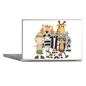 Boy on Safari Laptop Skins