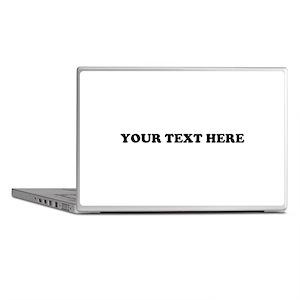 Custom Text Laptop Skins