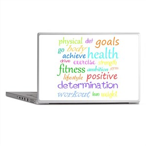 Fitness Collage Laptop Skins