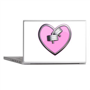 Barbell Heart (pink) Laptop Skins