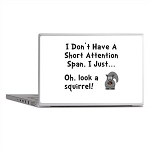 Short Attention Laptop Skins