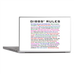 NCIS Gibbs' Rules Laptop Skins