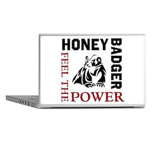 Honey Badger Feel the Power Laptop Skins