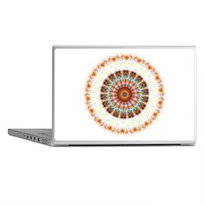 Detailed Orange Earth Mandala Laptop Skins