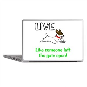 Live the gates open Laptop Skins