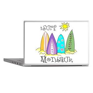 I Surf Montauk Laptop Skins