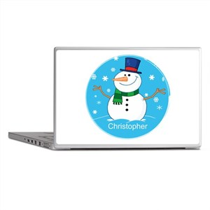 Cute Personalized Snowman Xmas gift Laptop Skins