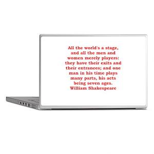 william shakespeare Laptop Skins