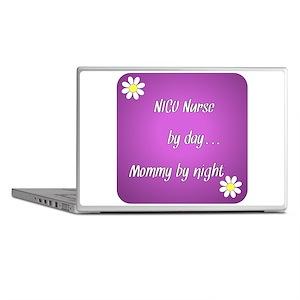 NICU Nurse by day Mommy by night Laptop Skins