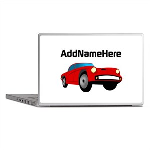 Sports Car, Custom Name Laptop Skins