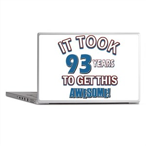 Awesome 93 year old birthday design Laptop Skins