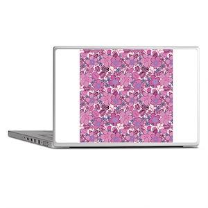 Retro Pink Floral Laptop Skins