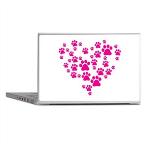 Heart of Paw Prints Laptop Skins
