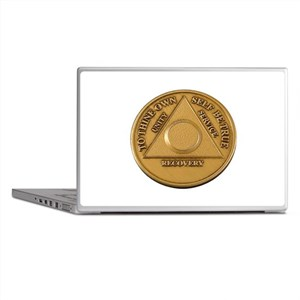Alcoholics Anonymous Anniversary Chip Laptop Skins