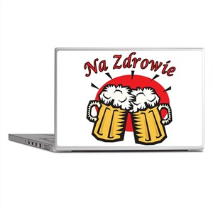Na Zdrowie Toast With Beer Mugs Laptop Skins