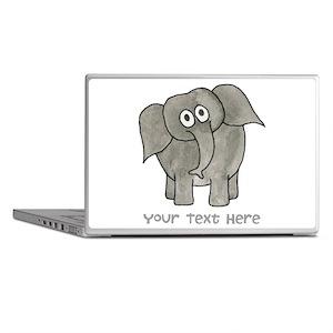 Elephant. Custom Text. Laptop Skins