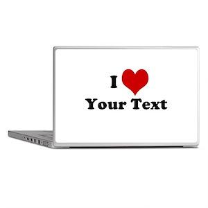 Customized I Love Heart Laptop Skins