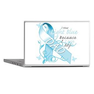I Wear Light Blue Because I Love My Dad Laptop