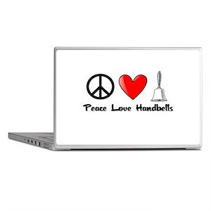 Peace, Love, Handbells Laptop Skins