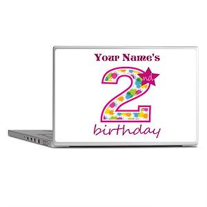 2nd Birthday Splat - Personalized Laptop Skins