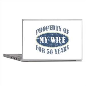 Funny 50th Anniversary Laptop Skins