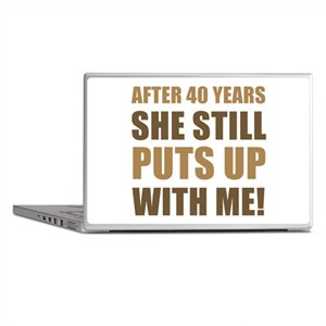 40th Anniversary Humor For Men Laptop Skins