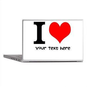I Heart (Personalized Text) Laptop Skins