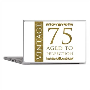 Fancy Vintage 75th Birthday Laptop Skins