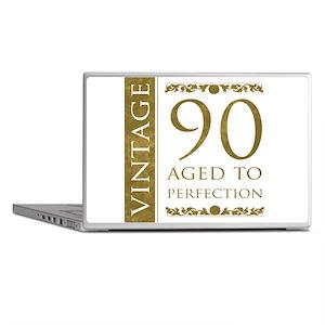 Fancy Vintage 90th Birthday Laptop Skins