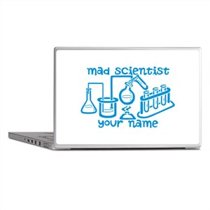 Personalized Mad Scientist Laptop Skins